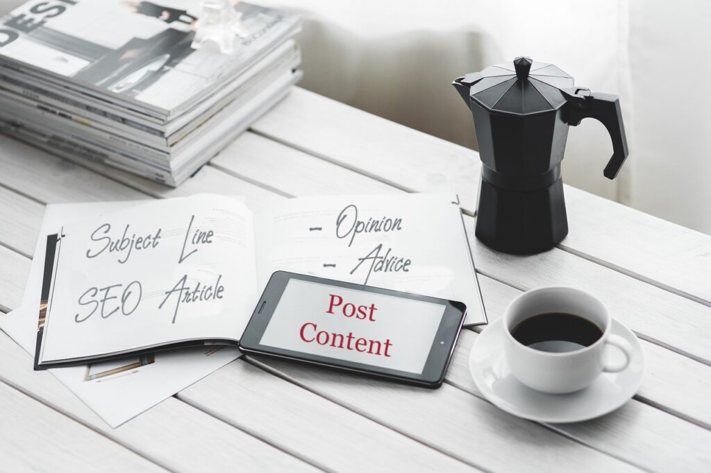 header for post content writing