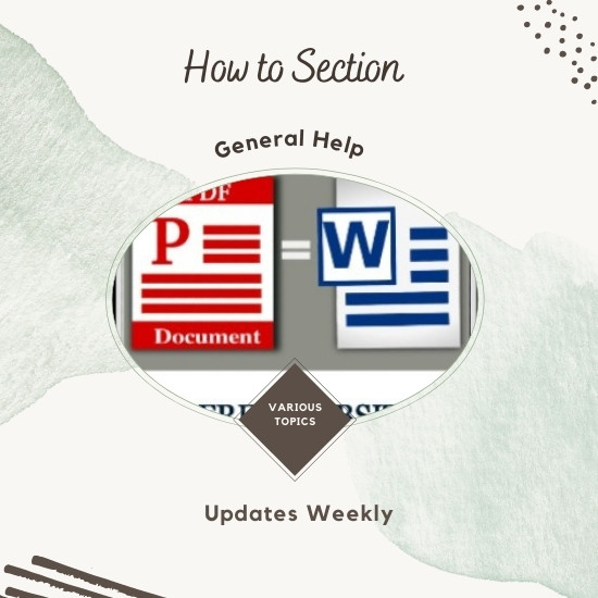 how to section WHITE1